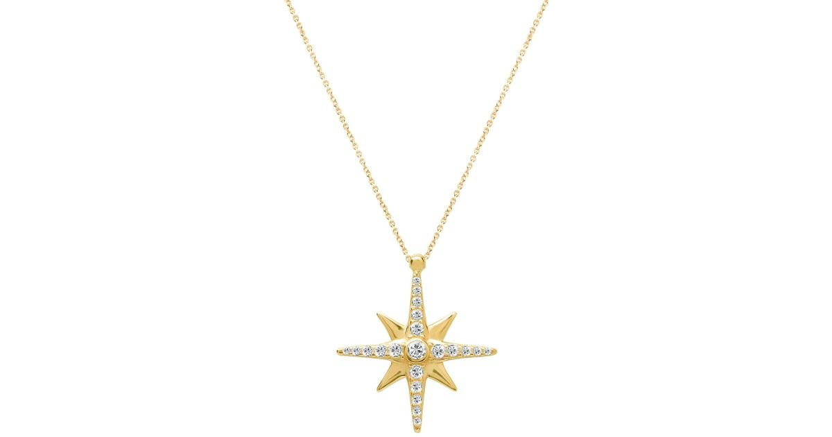 metallic necklace diamond north jewelry pendant in lyst star large lagos