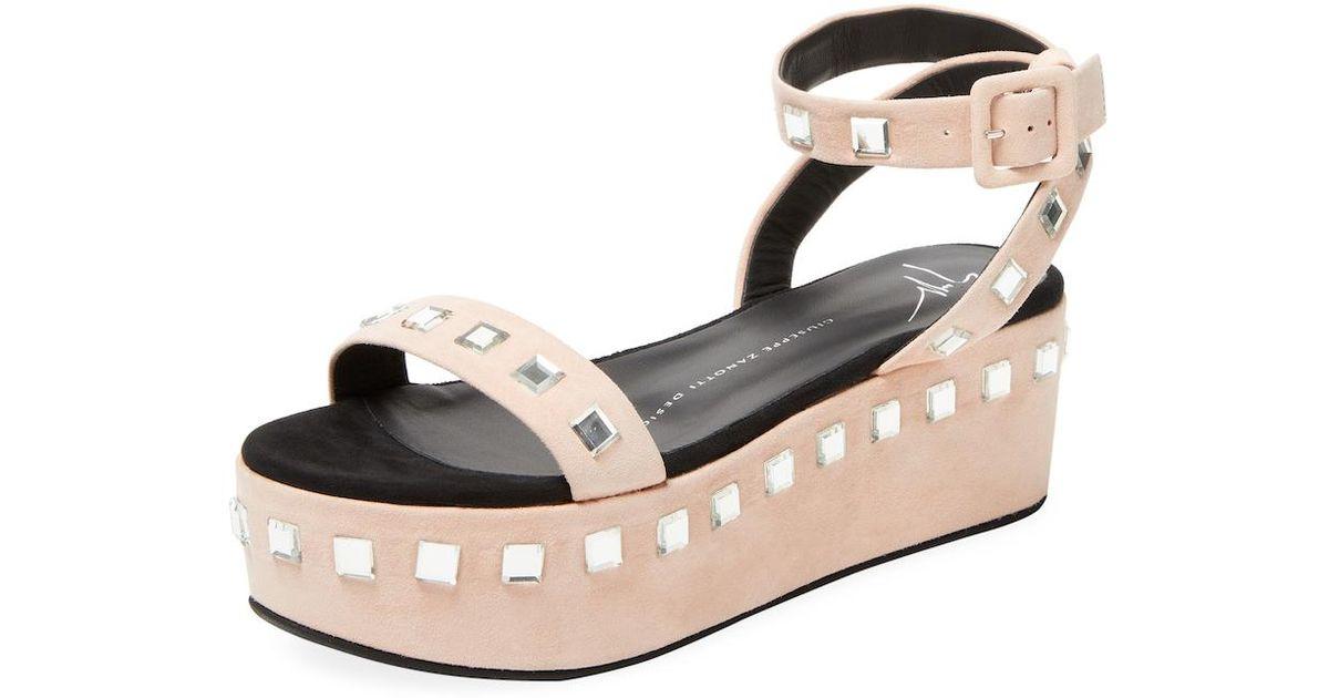 a7f217f36 Giuseppe Zanotti Platform Leather Sandal - Lyst