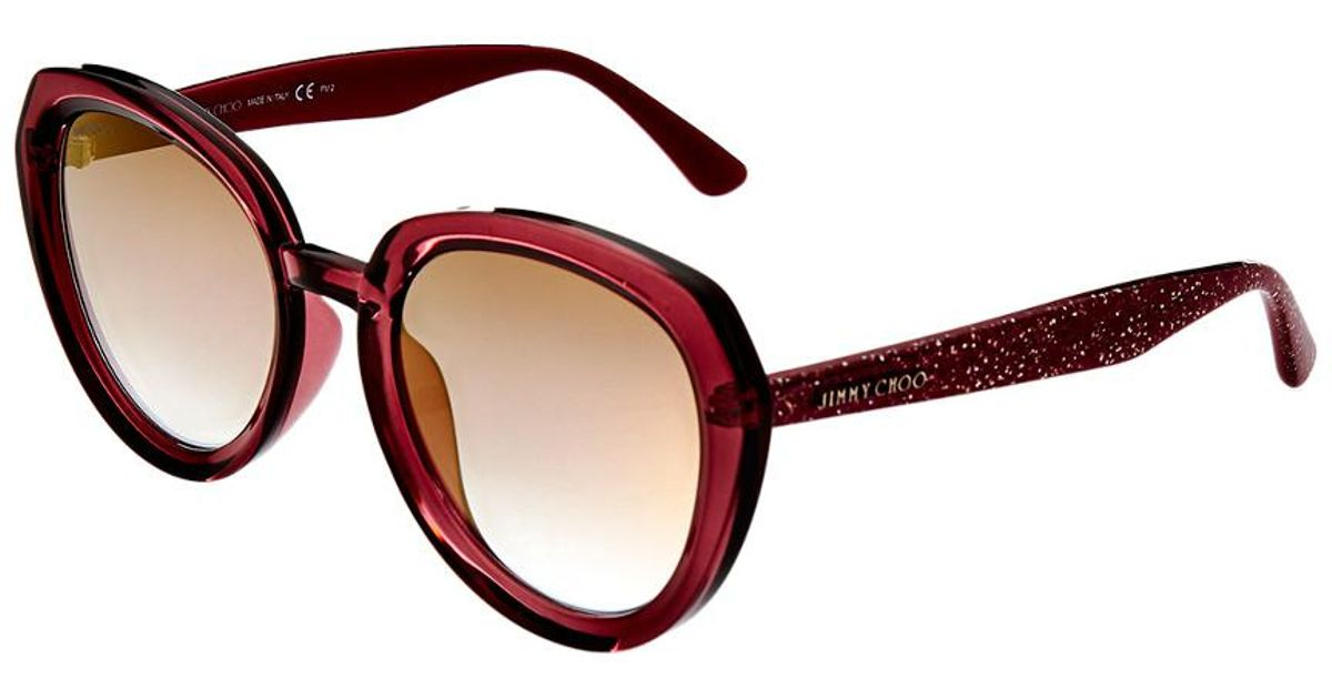 edc65c4b267 Jimmy Choo Mace 53mm Sunglasses in Brown - Lyst