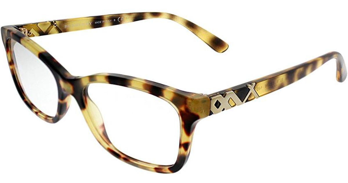 1ab9a6cb9f8 Lyst - Burberry Women s Be2249 52mm Optical Frames in Brown