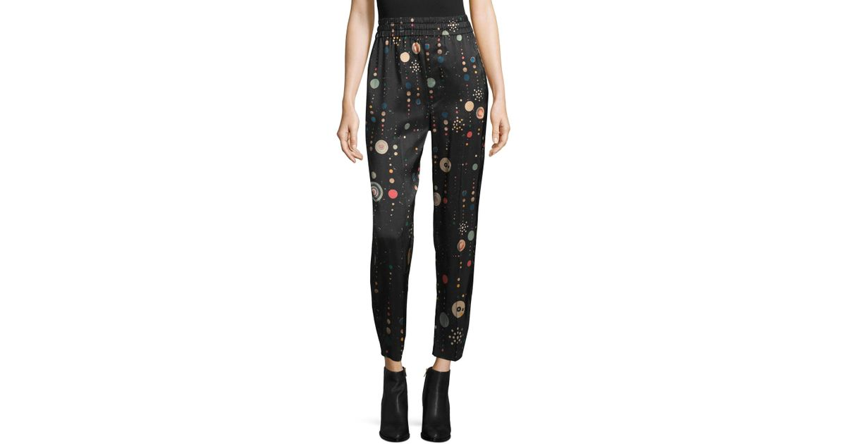 Isabel Marant Woman Oya Printed Silk Straight-leg Pants Black Size 36 Isabel Marant VrfiIZ