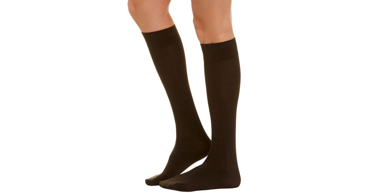 5fcd3147e14 Wolford Cotton Velvet Knee-highs in Brown - Lyst