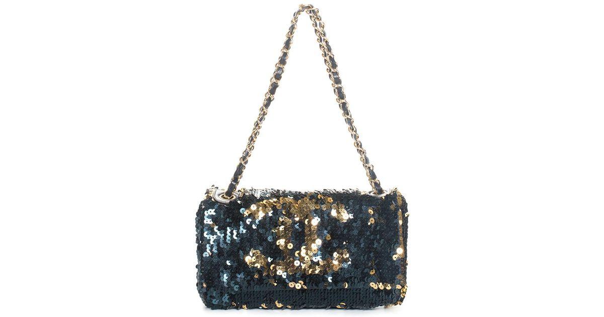 415d185290ed Chanel Multicolor Sequins Flap Bag - Lyst