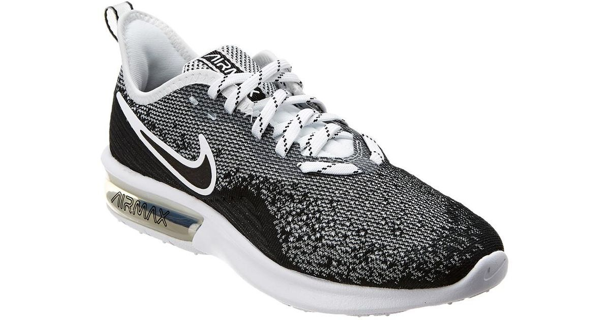 the best attitude 08008 ff69c Lyst - Nike Air Max Sequent 4 Mesh Sneaker in Black
