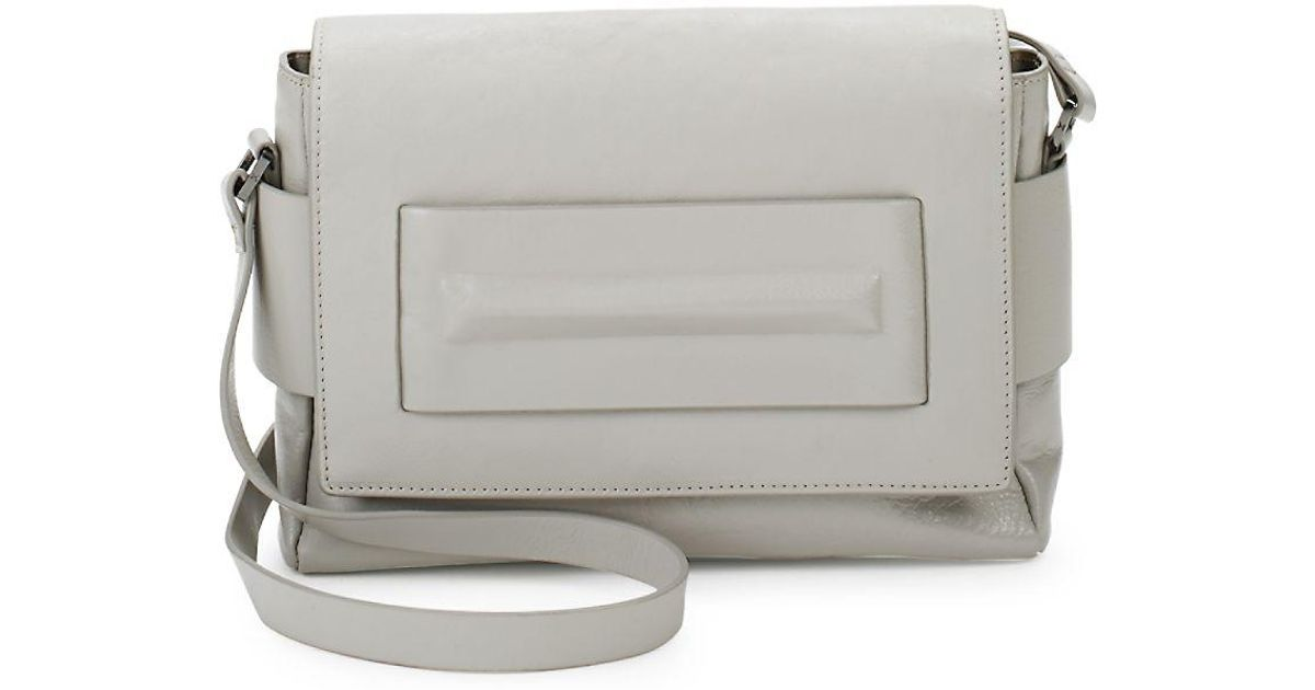 6fd24bb31ba Lyst - Halston Medium Leather Shoulder Bag in Gray