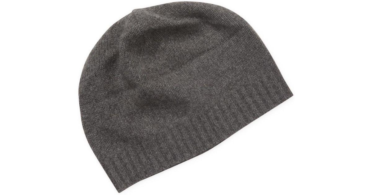 9392d352681af Portolano Cashmere Skull Hat in Gray for Men - Lyst