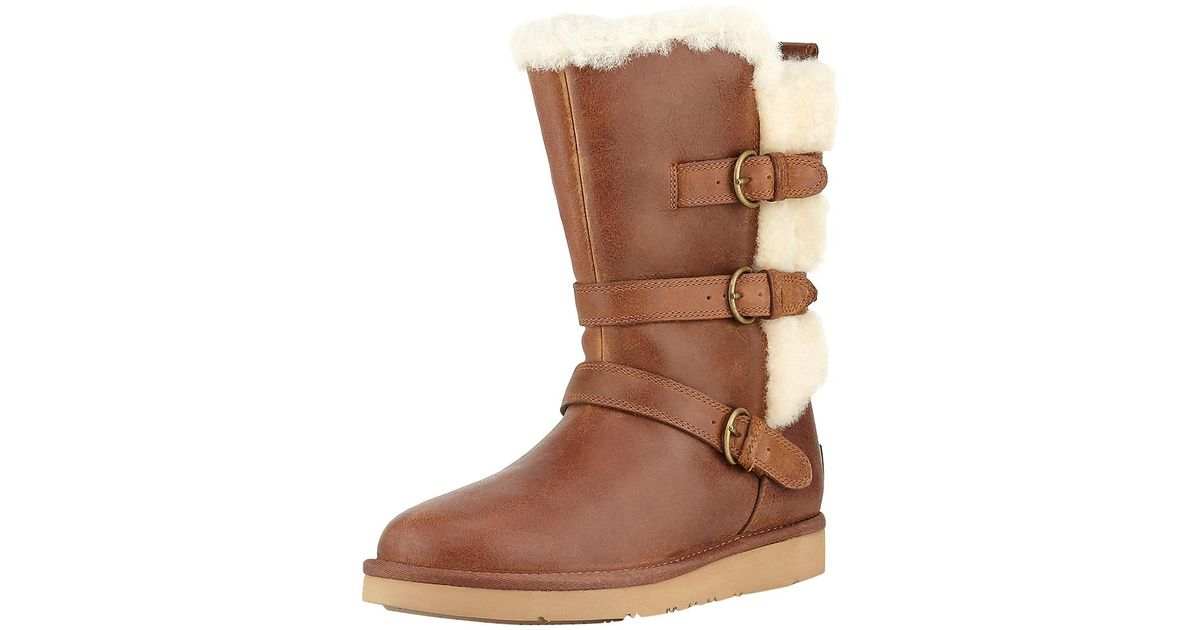 dfbfeb1912a Ugg - Brown Becket Triple Buckle Leather Boot - Lyst