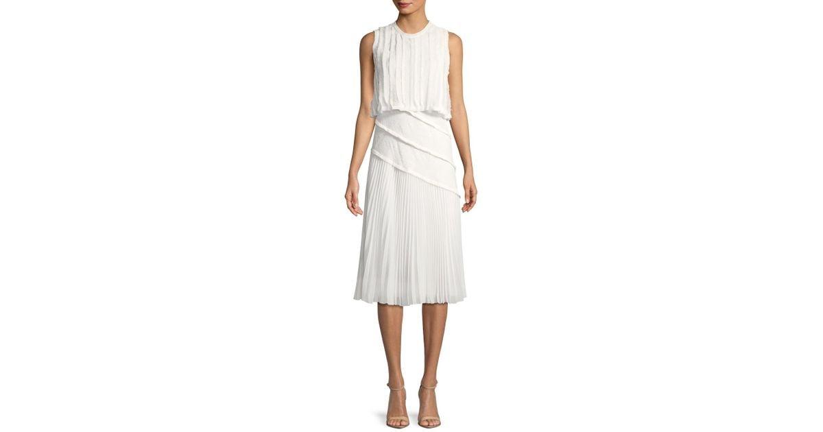 a6847d9ffe8 Lyst - Jason Wu Pleated Popover Dress in White