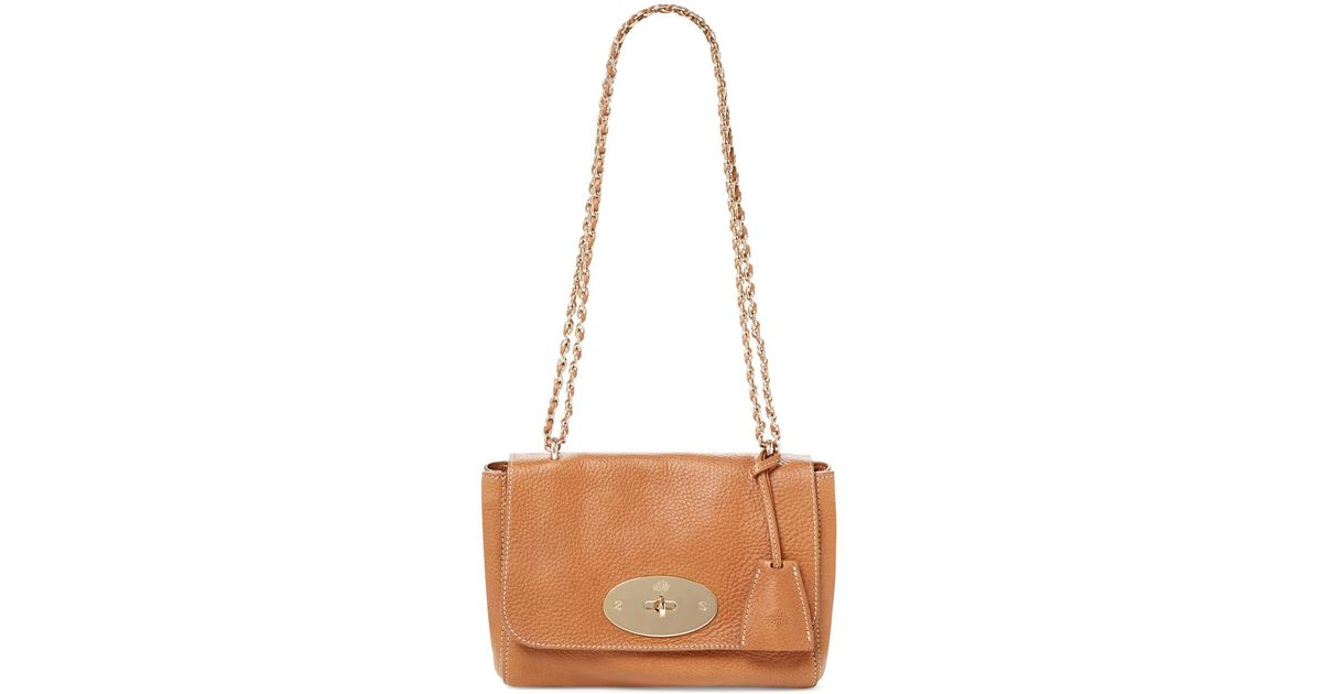 47eeb8dad56e Lyst - Mulberry Lily Natural Vegetable Tanned Leather Contrast Chain-link  Small Crossbody