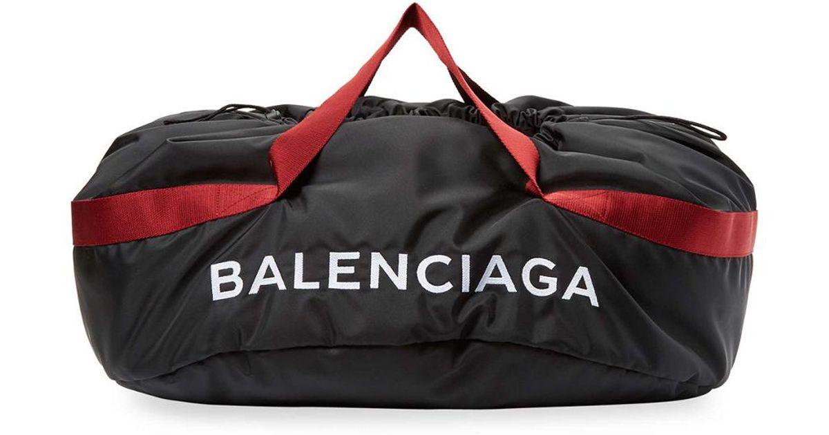 780e6f4e5338 Lyst - Balenciaga Medium Wheel Bag Nylon Duffle in Black