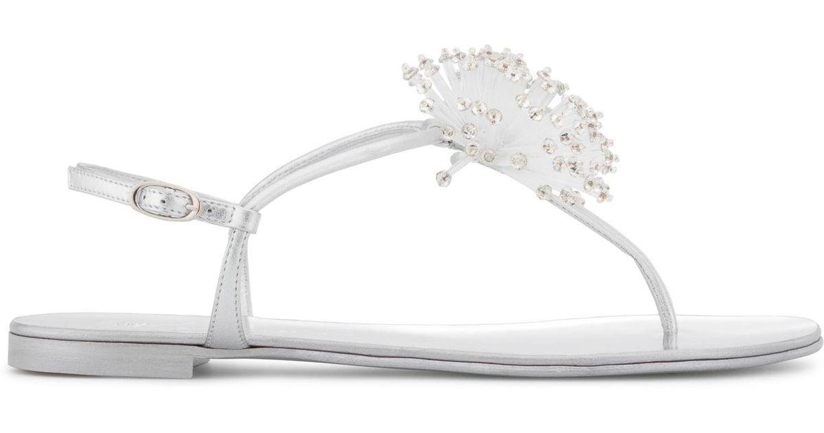 Giuseppe Zanotti Mirrored flat sandal with galaxy accessory HOLLIE SUPERNOVA awtO4fDHH