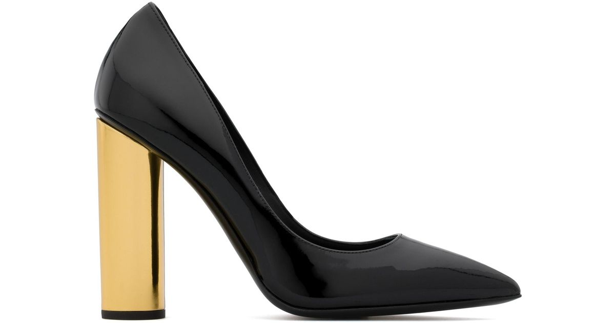 Giuseppe Zanotti Patent leather pump with chunky heel AYDA n5k1H0