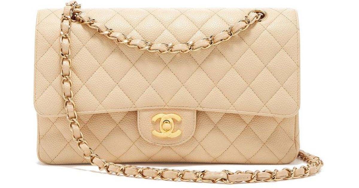 cb00def697ed What Goes Around Comes Around Chanel Beige Caviar 2.55 10