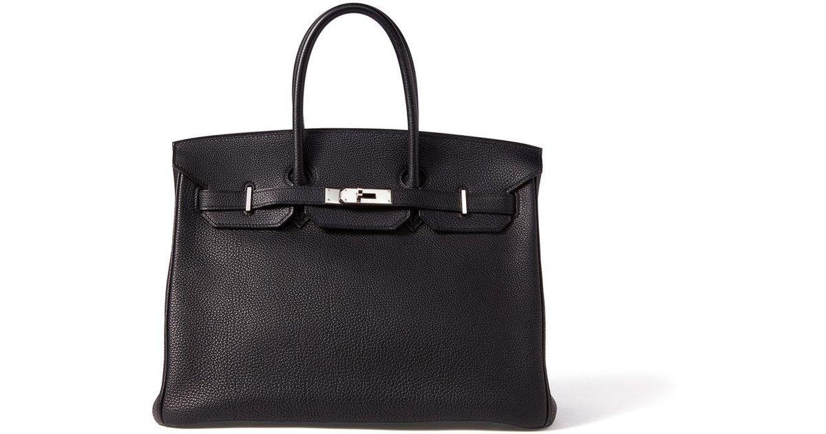 d540c6fd5b What Goes Around Comes Around Hermes Togo 35 Birkin Bag in Black - Lyst