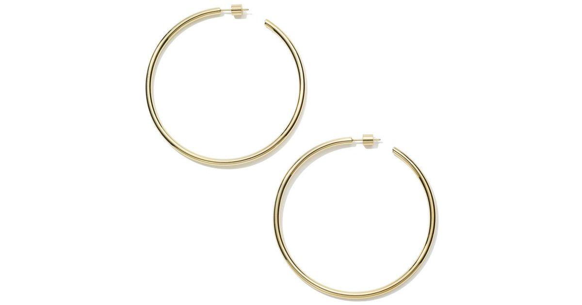 square en earrings us porter net a product huggie com plated gold fisher in pp hoop jennifer