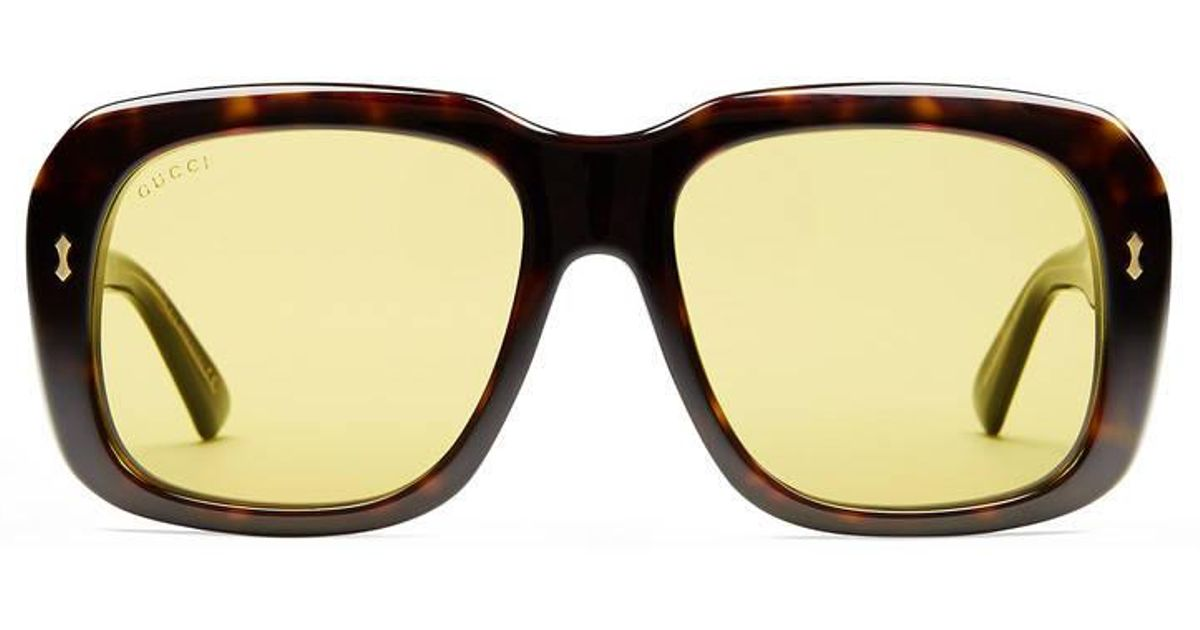 2dbac3b83be Lyst - Gucci Rectangular-frame Acetate Sunglasses for Men