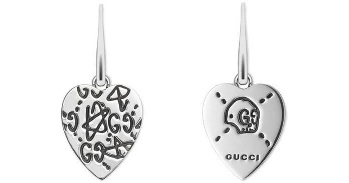 d407b75bca3 Lyst - Gucci Ghost Earrings In Silver in Metallic