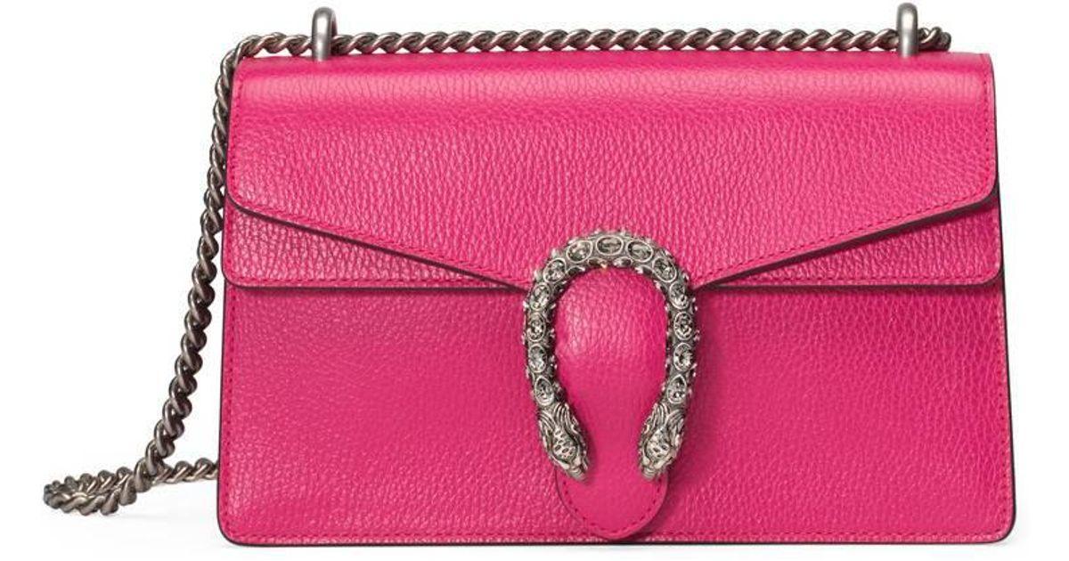 912743bdbdb0 Lyst - Gucci Dionysus Leather Shoulder Bag in Pink