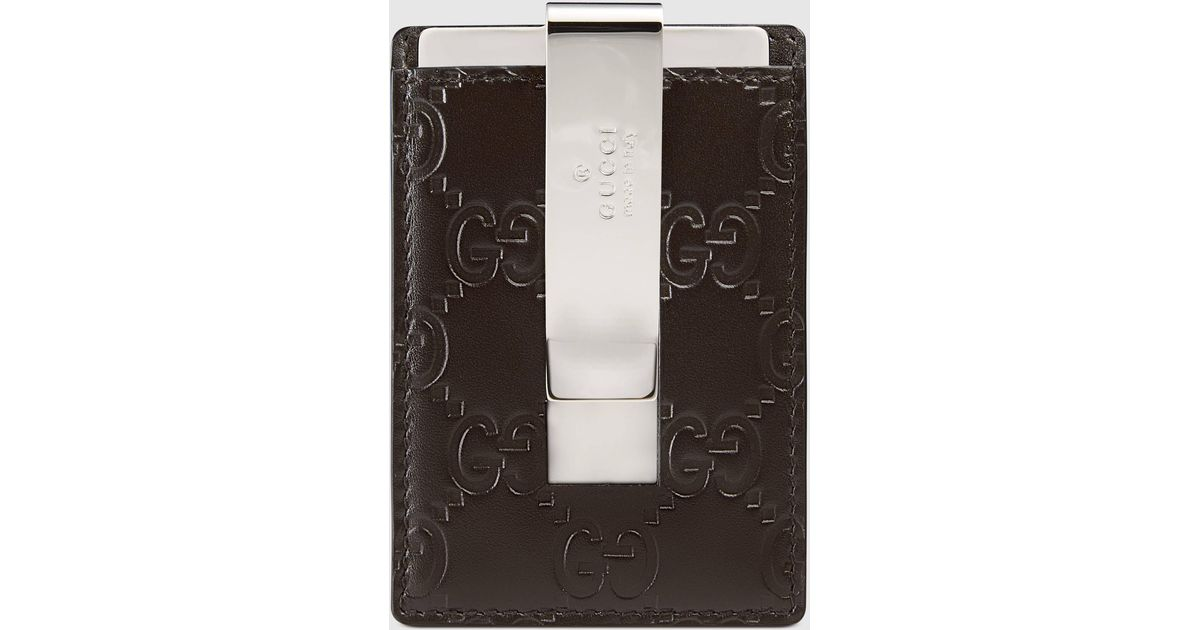 a30aa5cbd30 Lyst - Gucci Signature Money Clip in Brown for Men