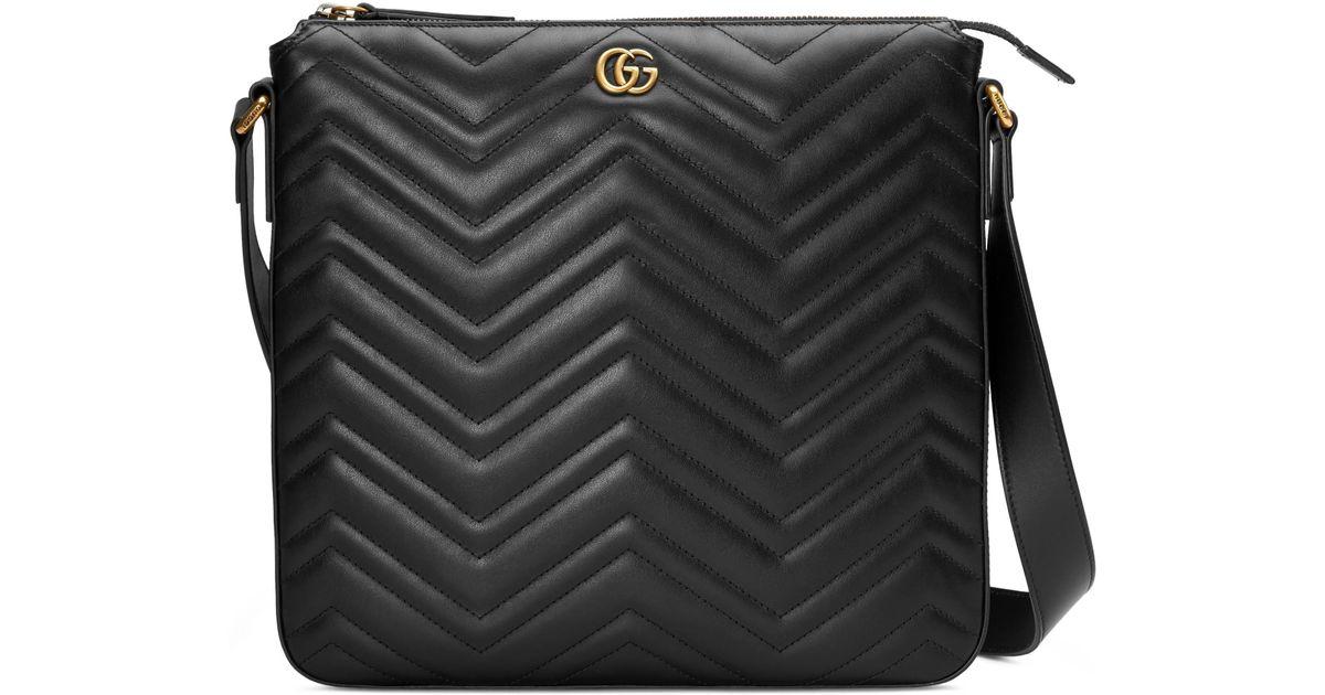 443d6790535139 Gucci GG Marmont Messenger Bag in Black for Men - Save 11% - Lyst