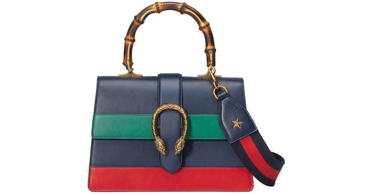 8de5e9ba8b87 Gucci Blue Green And Red Dionysus Mini Top Handle Bag in Blue - Save 34% -  Lyst
