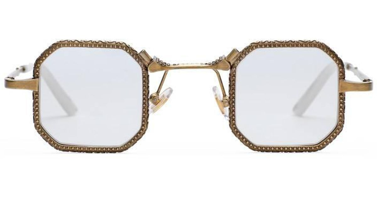 99365a0af4 Lyst - Gucci Square-frame Metal Glasses in Metallic for Men
