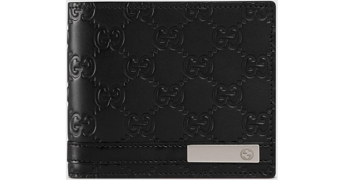 a9851c864e00 Gucci Signature Wallet With Id Window in Black for Men - Lyst