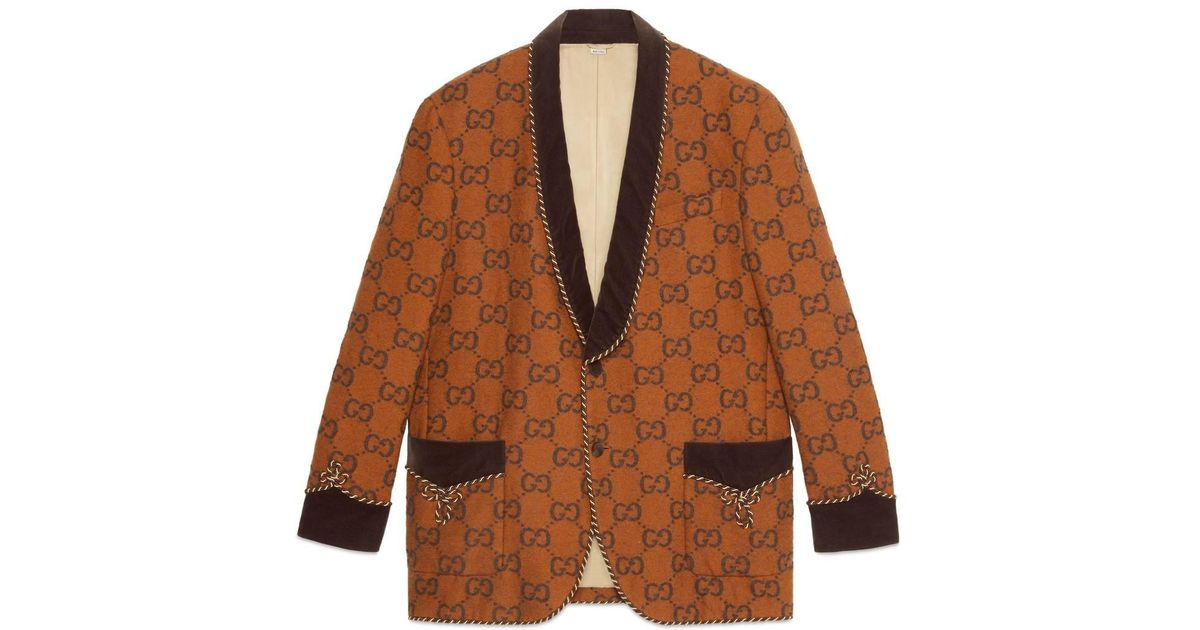 707f82eae2728 Gucci GG Flannel Jacket for Men - Lyst