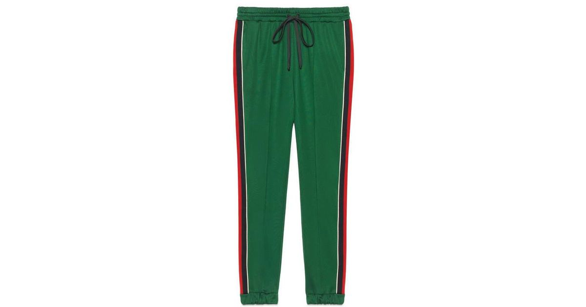 e8792f8abc26c Lyst - Gucci Technical Jersey jogging Trousers in Green