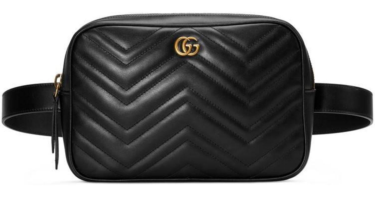 30303cbeabb Lyst - Sac ceinture matelassé GG Marmont Gucci pour homme en coloris Noir