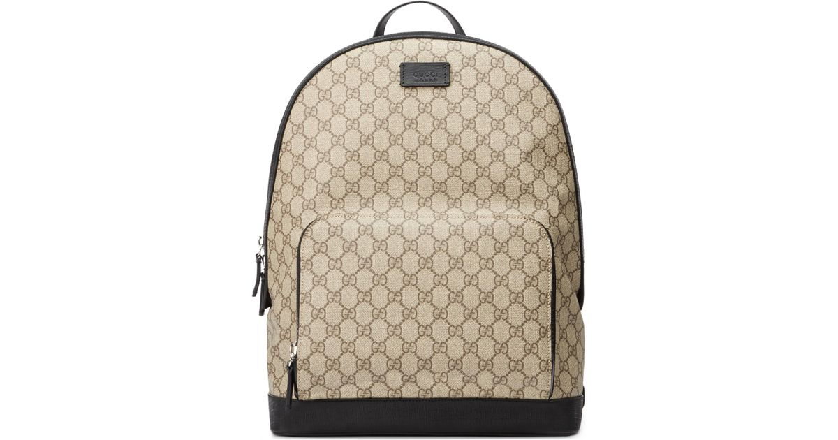 3ba95df20 Gucci GG Supreme Backpack in Natural for Men - Lyst