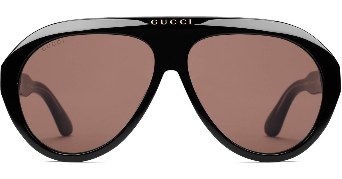 1eb96405c Gucci Navigator Sunglasses With Double G for Men - Lyst