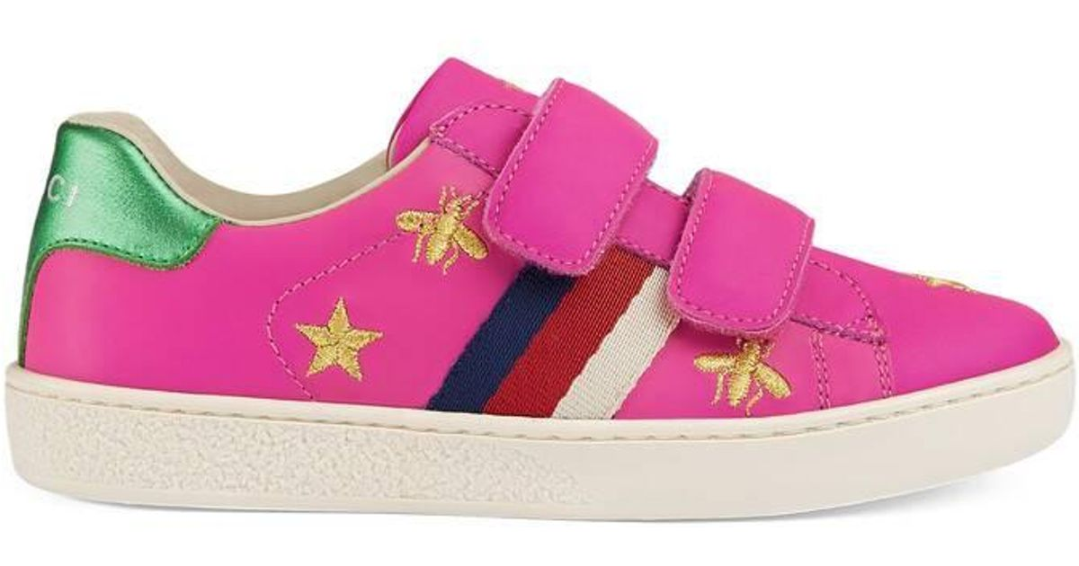 9ad0040b7 Gucci - Children's Ace Sneaker With Bees And Stars in Green - Lyst