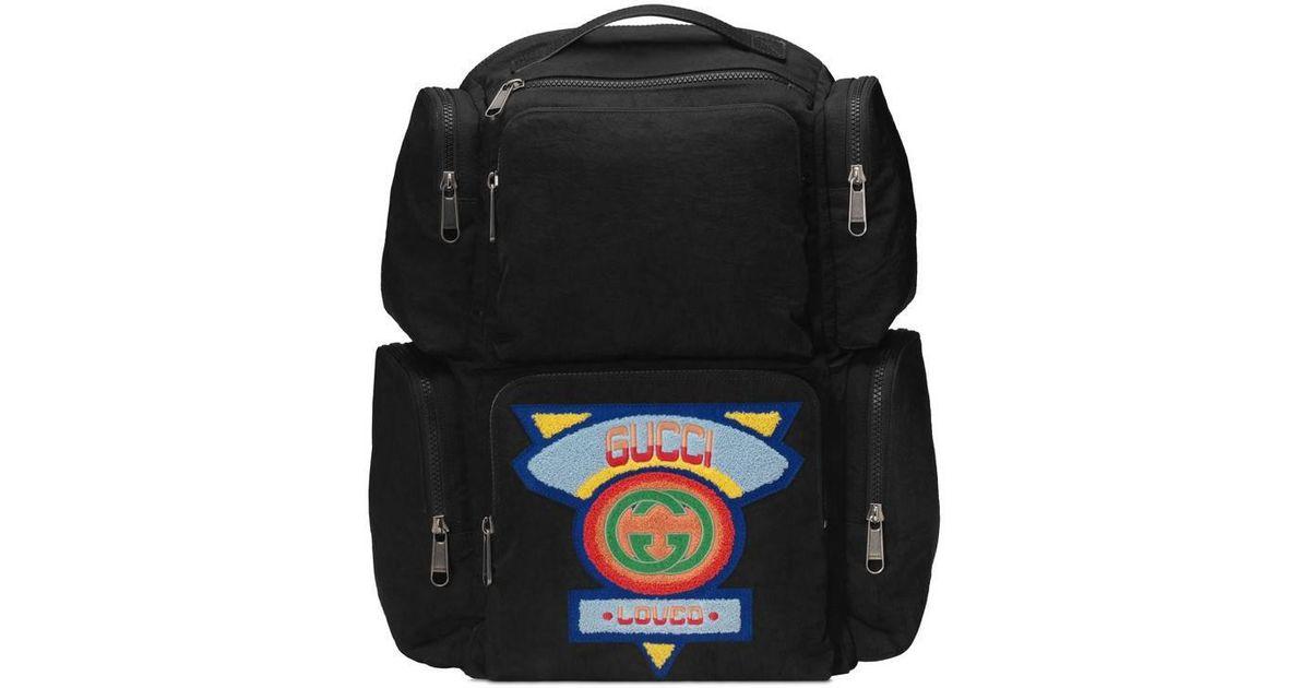 f759a4a4b43d Lyst - Grand sac à dos à empiècement style années 80 Gucci pour homme en  coloris Blanc