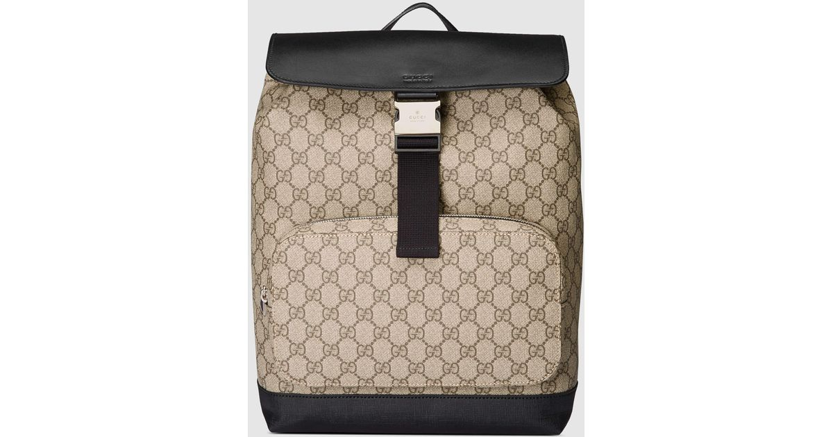 225ac012fb2d Gucci Gg Supreme Backpack in Natural - Lyst