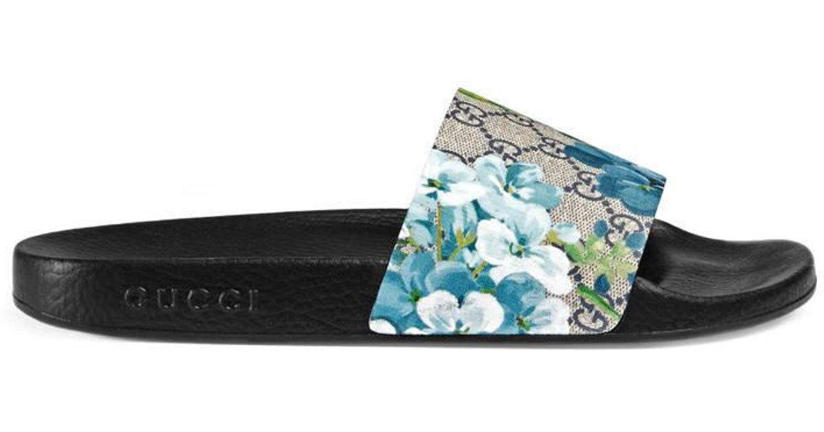 33411d620913c9 Gucci Gg Blooms Sandal in Blue for Men - Lyst