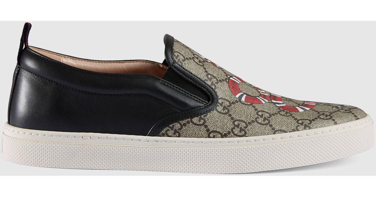 Snake Print Slip On Shoes