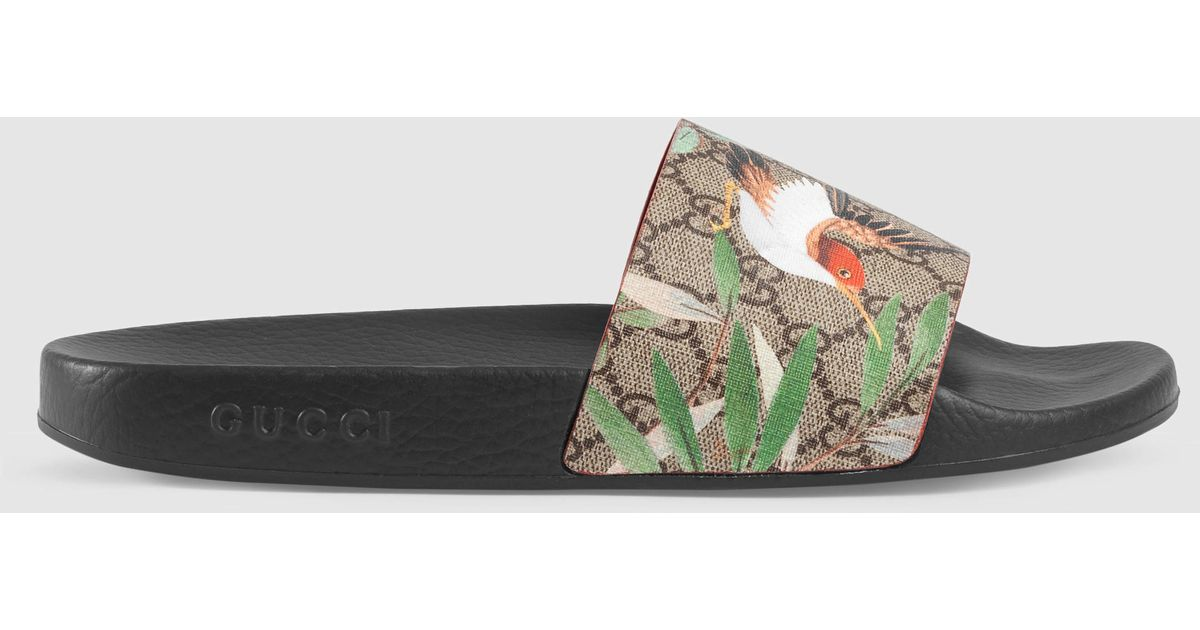 d7dbad0f22e4 Lyst - Gucci Tian Printed Slides for Men