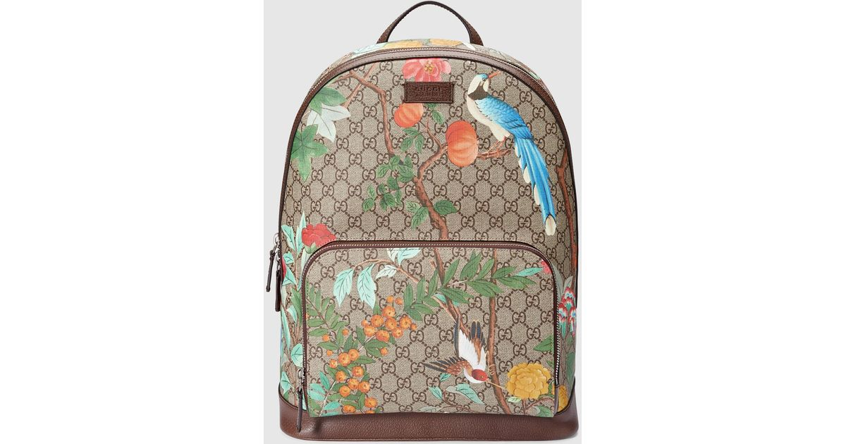 3e1c160d9394f2 Gucci Tian GG Supreme Leather Backpack for Men - Lyst