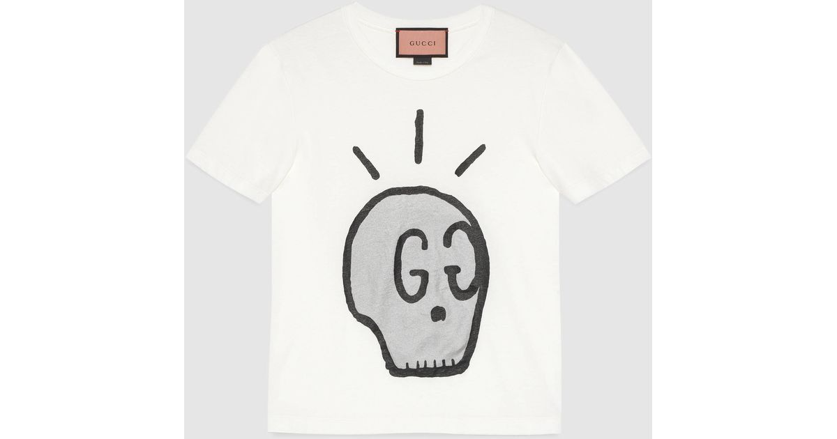 gucci ghost t shirt for men lyst