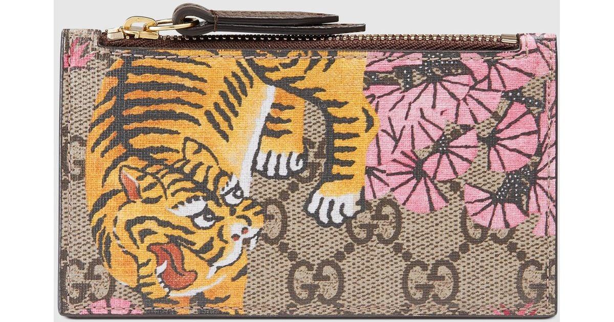 cea2679cbbd Lyst - Gucci Bengal Card Case