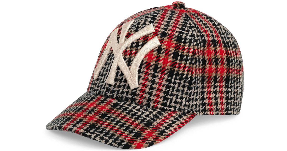 e247f6146066 Gucci Baseball Hat With Ny Yankees    Patch in Brown for Men - Lyst