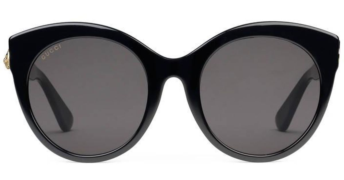 8a725254fe71 Lyst - Gucci Specialized Fit Round-frame Acetate Sunglasses in Black for Men