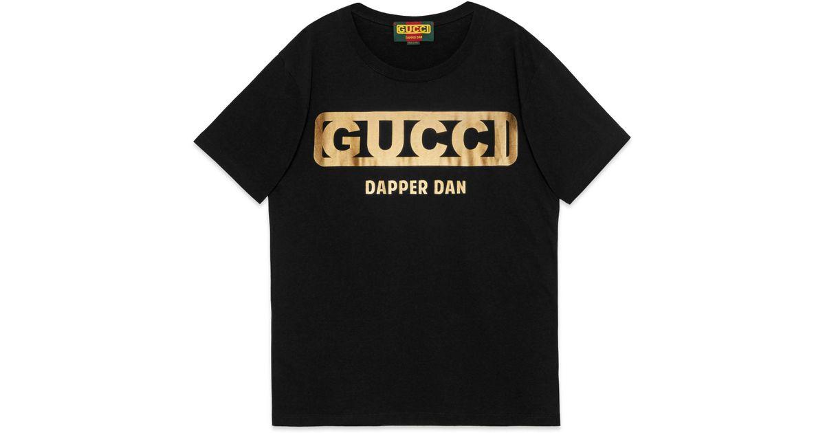 4ac22dab61f Gucci Oversize -dapper Dan T-shirt in Black for Men - Lyst
