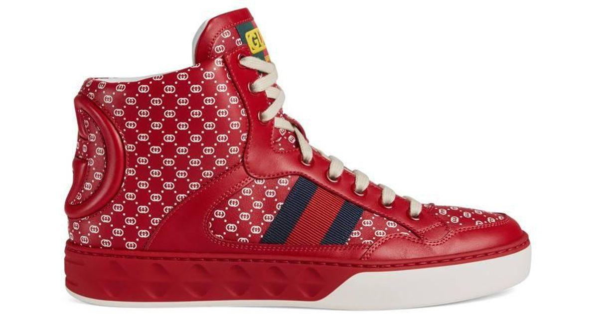a9f90f67869 Lyst - Gucci Women s -dapper Dan Sneaker in Red