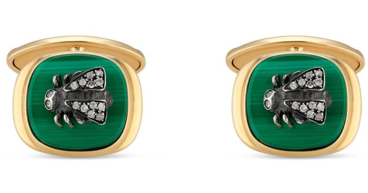 9e6f1eb25 Lyst - Gucci Le Marché Des Merveilles Cufflinks Green in Green for Men