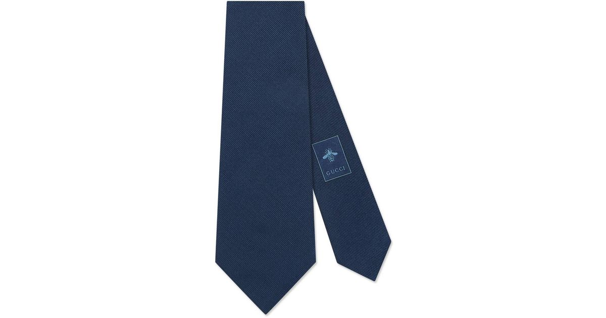 9057f1876b29 Lyst - Gucci Kingsnake Underknot Silk Tie in Blue for Men - Save 5%