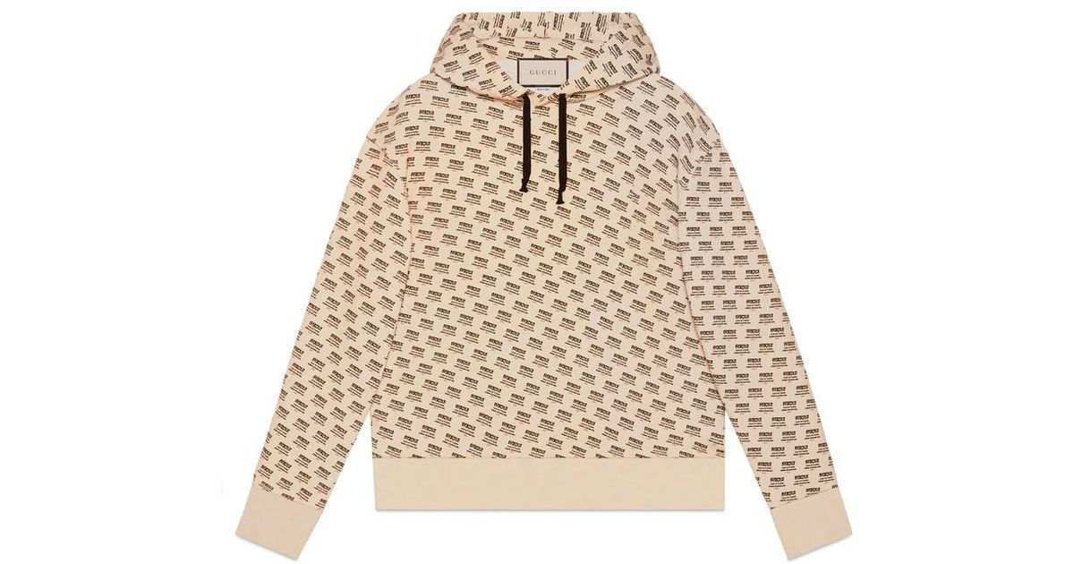 bfcbc3e94 Gucci Invite Stamp Cotton Sweatshirt in Natural for Men - Lyst