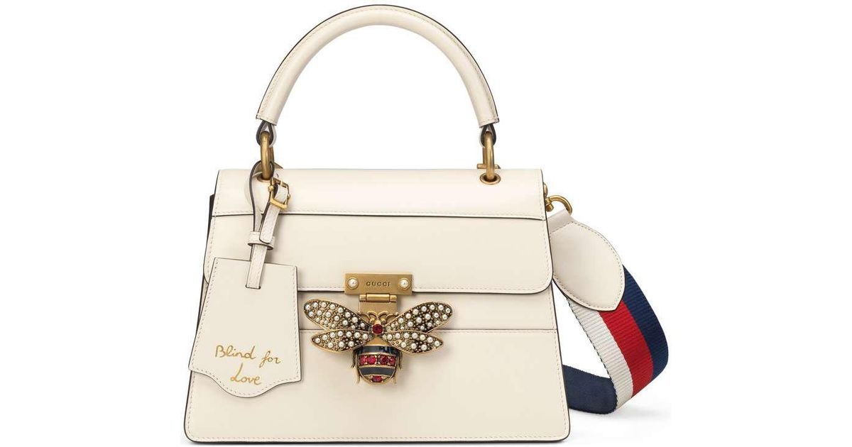 731d7e769 Gucci Queen Margaret Small Top Handle Bag in White - Lyst