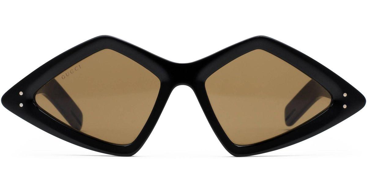 753b468e163 Lyst - Gafas de sol con montura de diamante Gucci